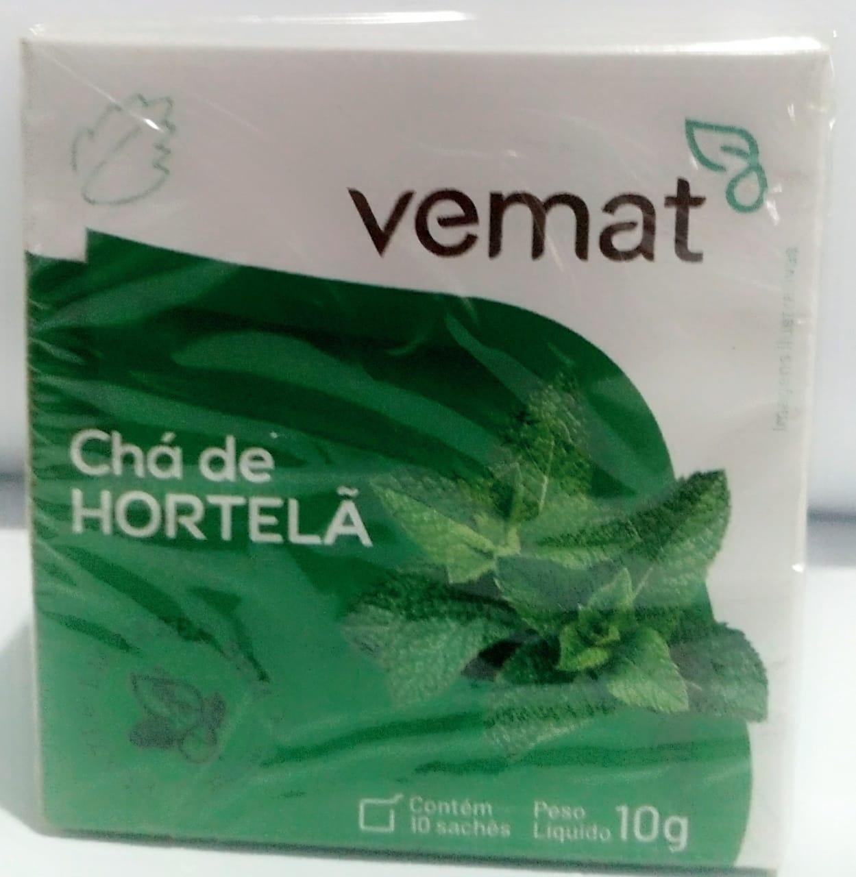 Cha De Hortela 10 Saches 10g  Vemat