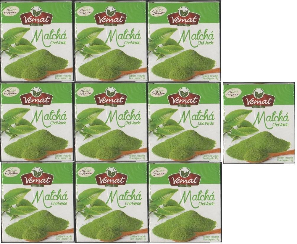 Cha De Matcha (Cha Verde) Vemat 10 Saches 10 caixas