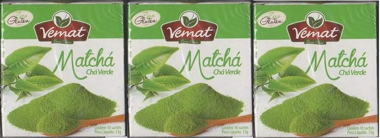 Cha De Matcha (Cha Verde) Vemat 10 Saches 3 Caixas