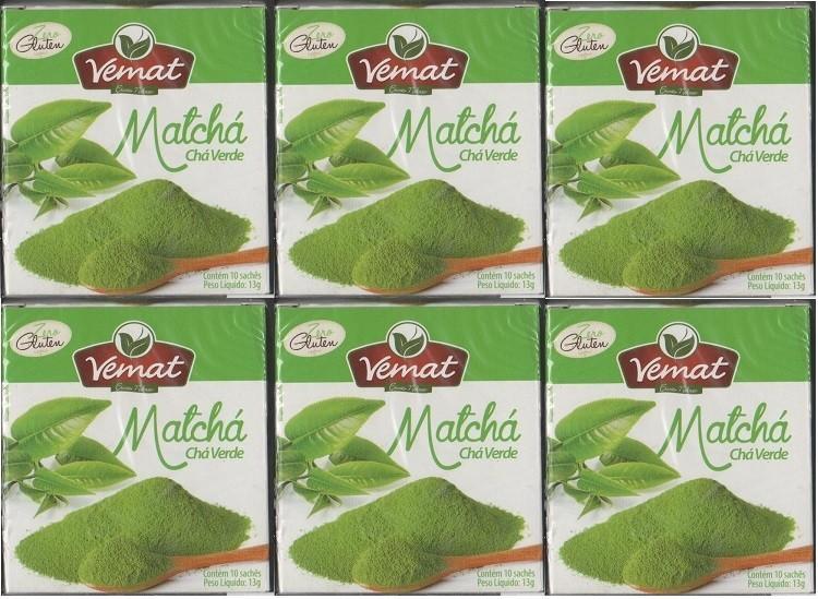 Cha De Matcha (Cha Verde) Vemat 10 Saches 6 caixas