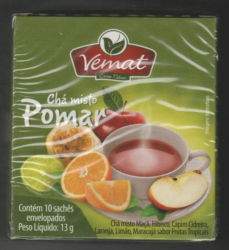 Cha Frutado Pomar 10 Saches Vemat