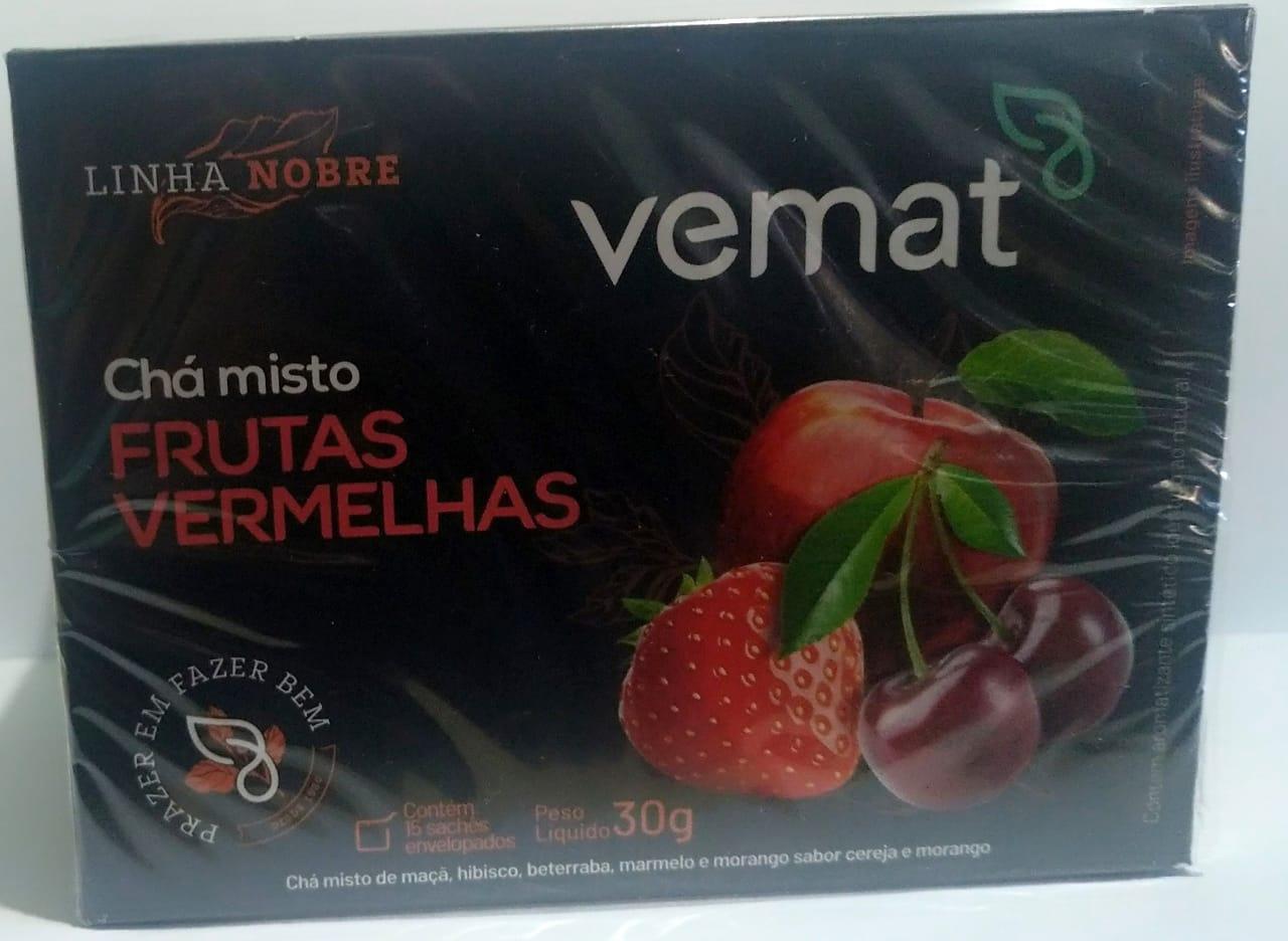 Cha Frutas Vermelhas 15 Saches 15g Vemat