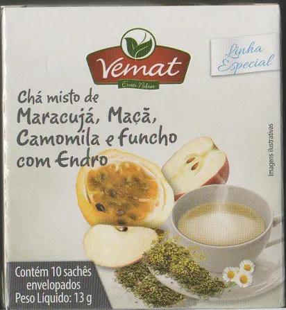 Cha Maracuja Maca Camomila Funcho Com Endro 10 Saches Vemat