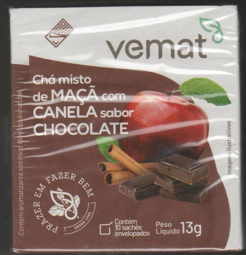 Cha Misto Maca Com Canela Sabor Chocolate 10 Saches  Vemat
