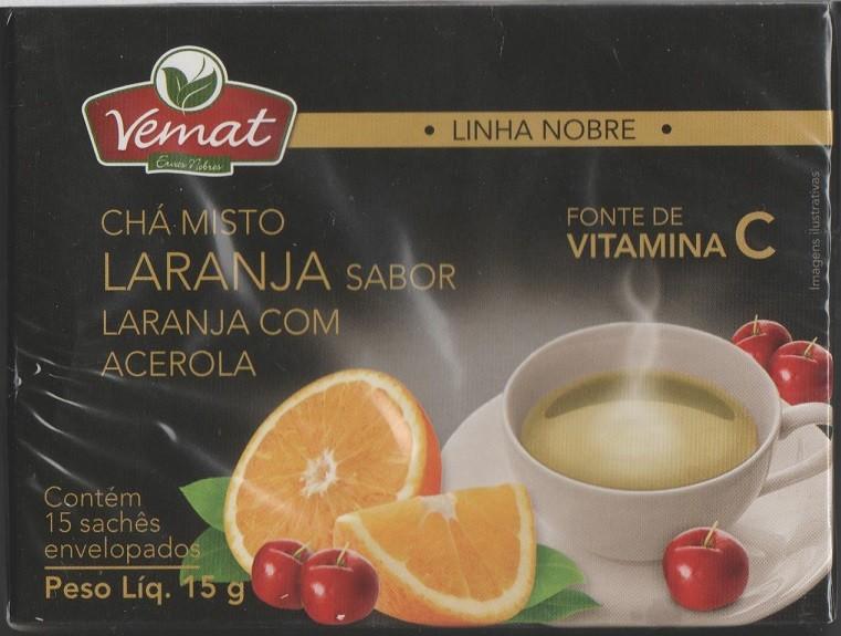 Cha Misto Sabor Laranja Acerola Rico Em Vitamina C 15 Saches