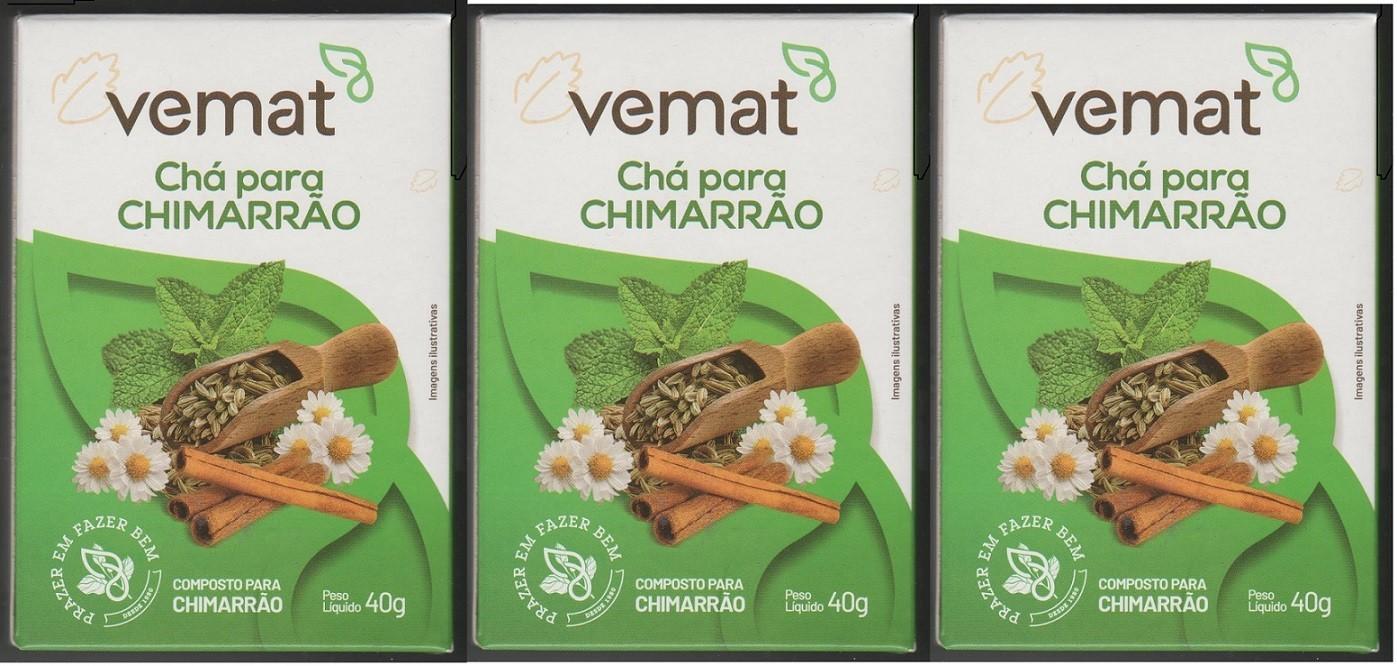 Cha Mix Ervas Mistura Para Chimarrao  40g Vemat 3 caixa