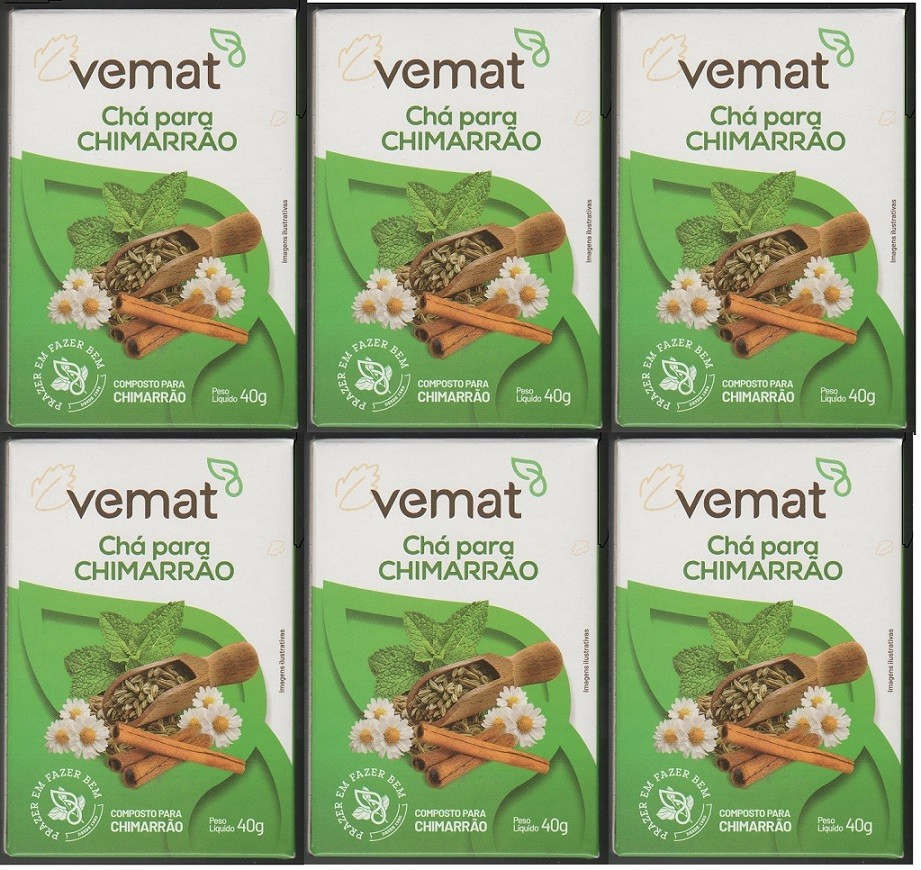 Cha Mix Ervas Mistura Para Chimarrao  40g Vemat 6 caixa