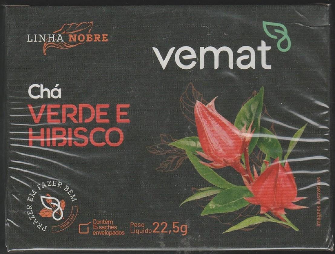 Cha Verde Com Hibisco (aux. perda de peso) VEMAT 15 saches