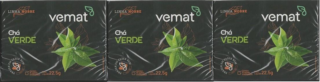 Cha Verde (emagrecedor) Vemat 15 Saches 3 caixas