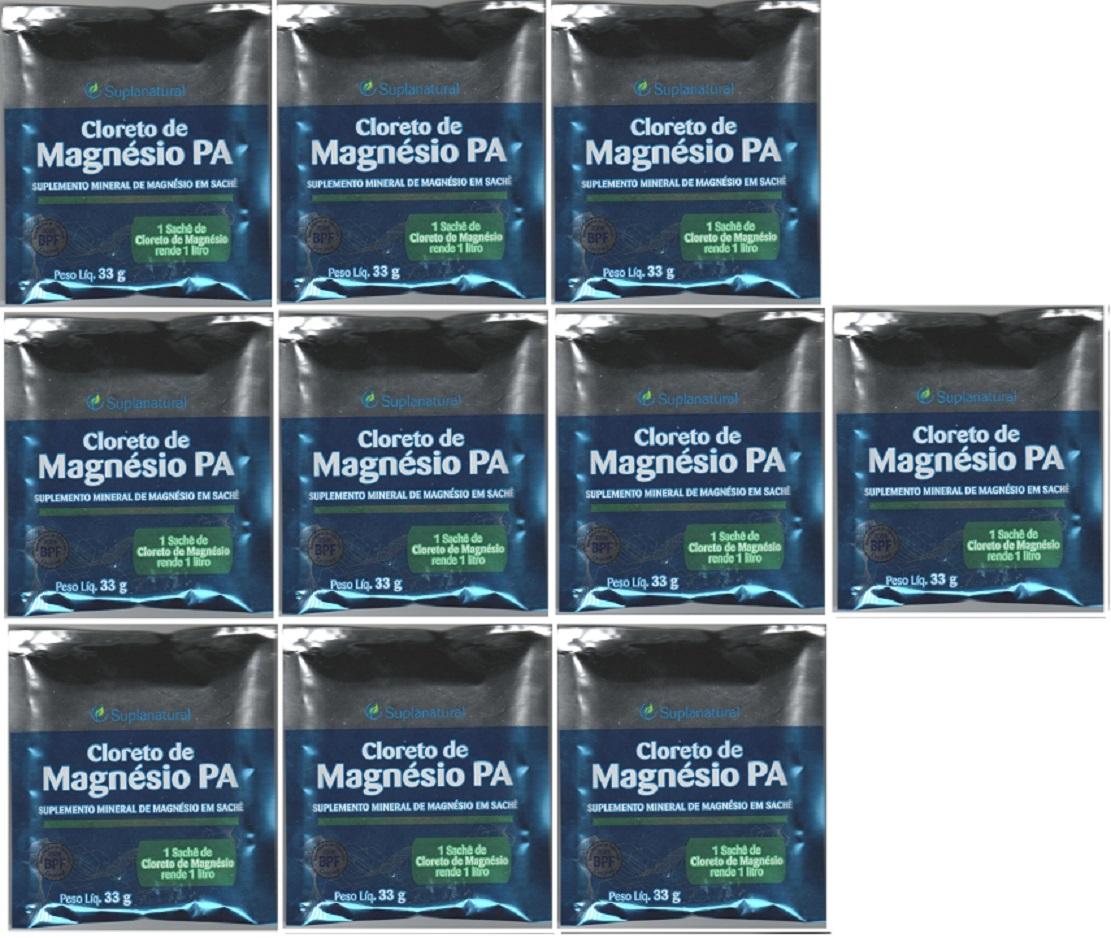 Cloreto Magnesio  P.A (Puro) 33g 10 unidades
