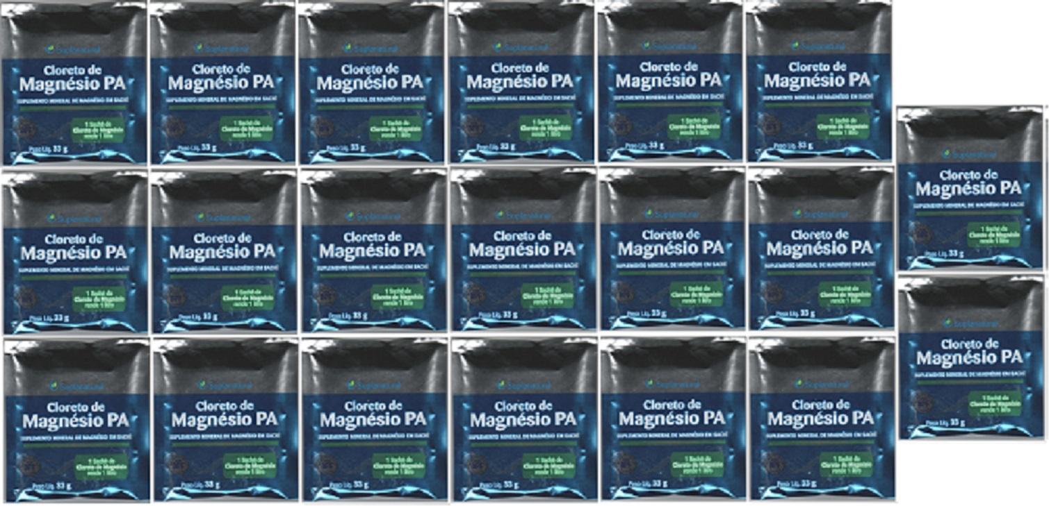 Cloreto Magnesio  P.A (Puro) 33g 20 unidades