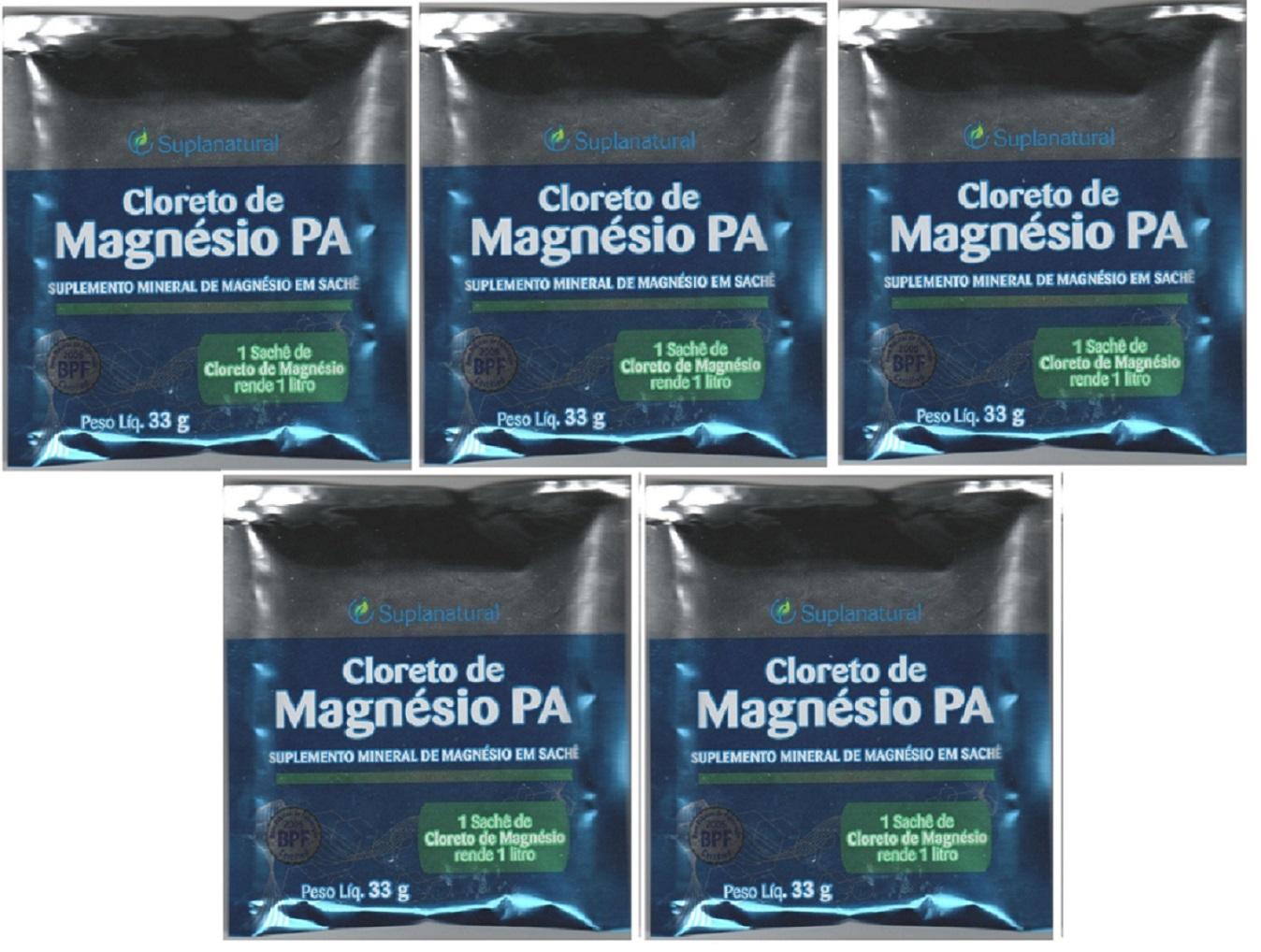 Cloreto Magnesio  P.A (Puro) 33g 5 unidades