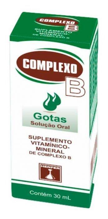 COMPLEXO B GOTAS 30ML HENFER