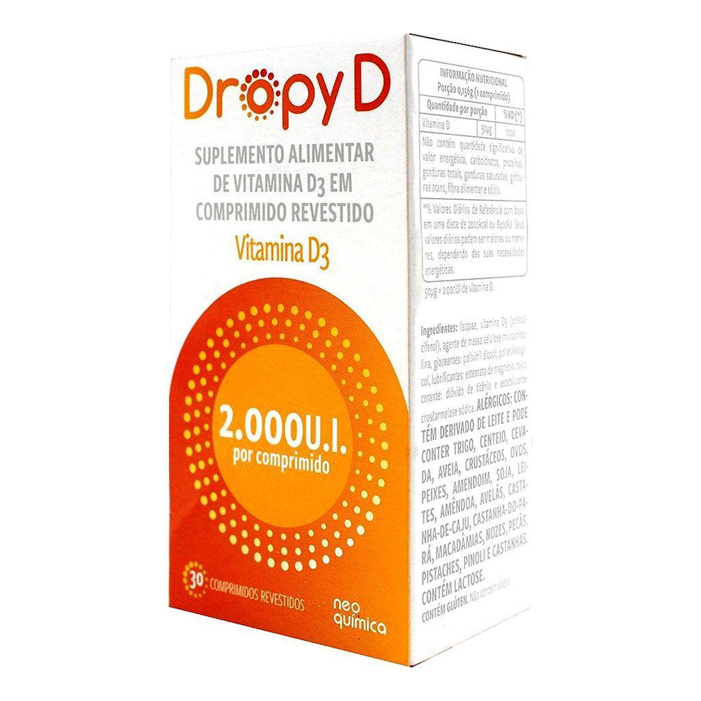 Dropy D  Vitamina D 2.000 UI 30 Cprs Revestido