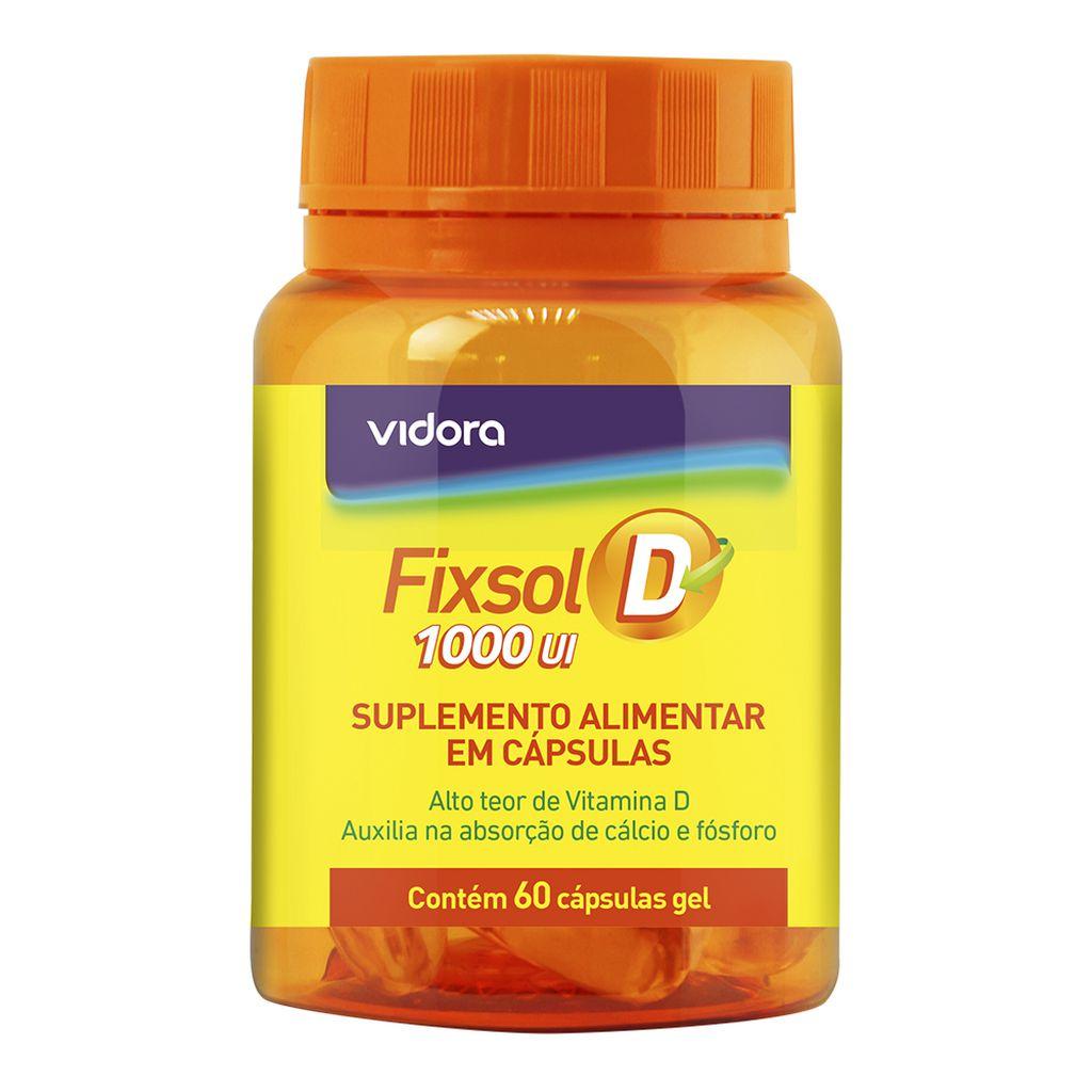 Fixsol D Vitamina D 1.000 Ui 100% IDR 60 Caps Gel