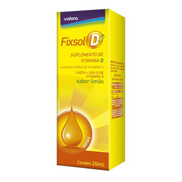 Fixsol D Vitamina D Gotas 100% IDR (1 Gota) 20ml Limao