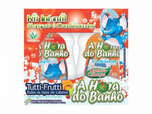 Kit Infantil Shampoo/Condicionador Tutti Frutti 2x240ml Relvazon