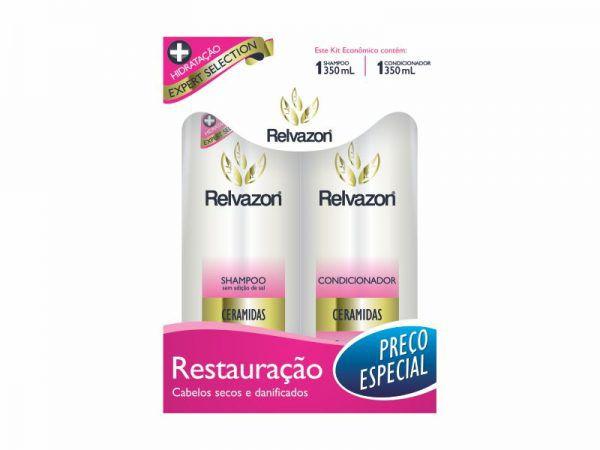 Kit Shampoo/Condicionador Ceramidas 350ml Relvazon