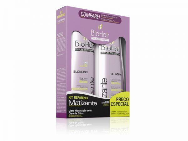 Kit Shampoo/Condicionador Matizante 2x350ml Biohair