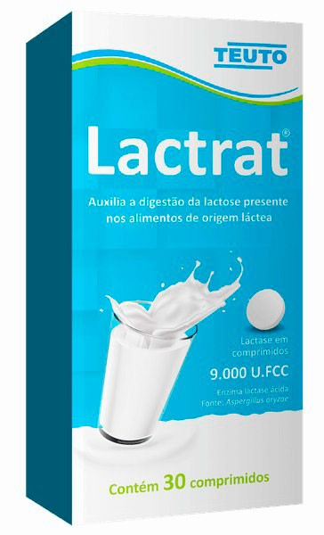 Lactrat Lactase 9.000 FCC Intolerante A Lactose 30 Cpr Teuto