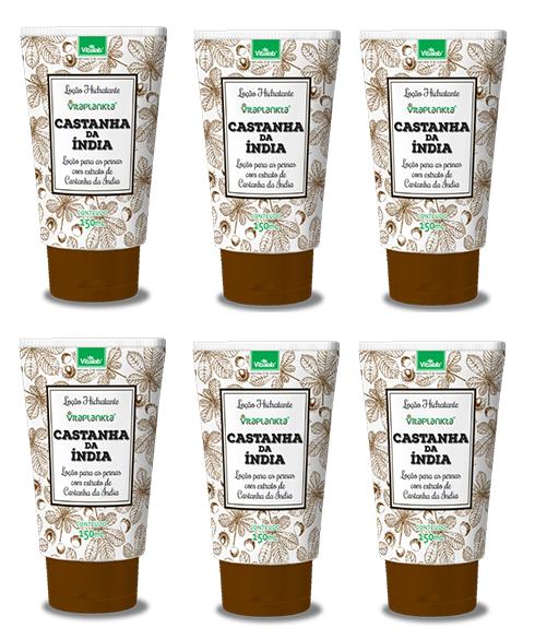 Locao Hidratante Castanha Da India 150ml 6 unidades