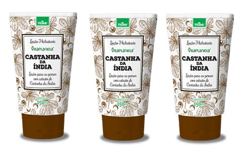 Locao Hidratante Castanha Da India 150ml Pernas 3unidades