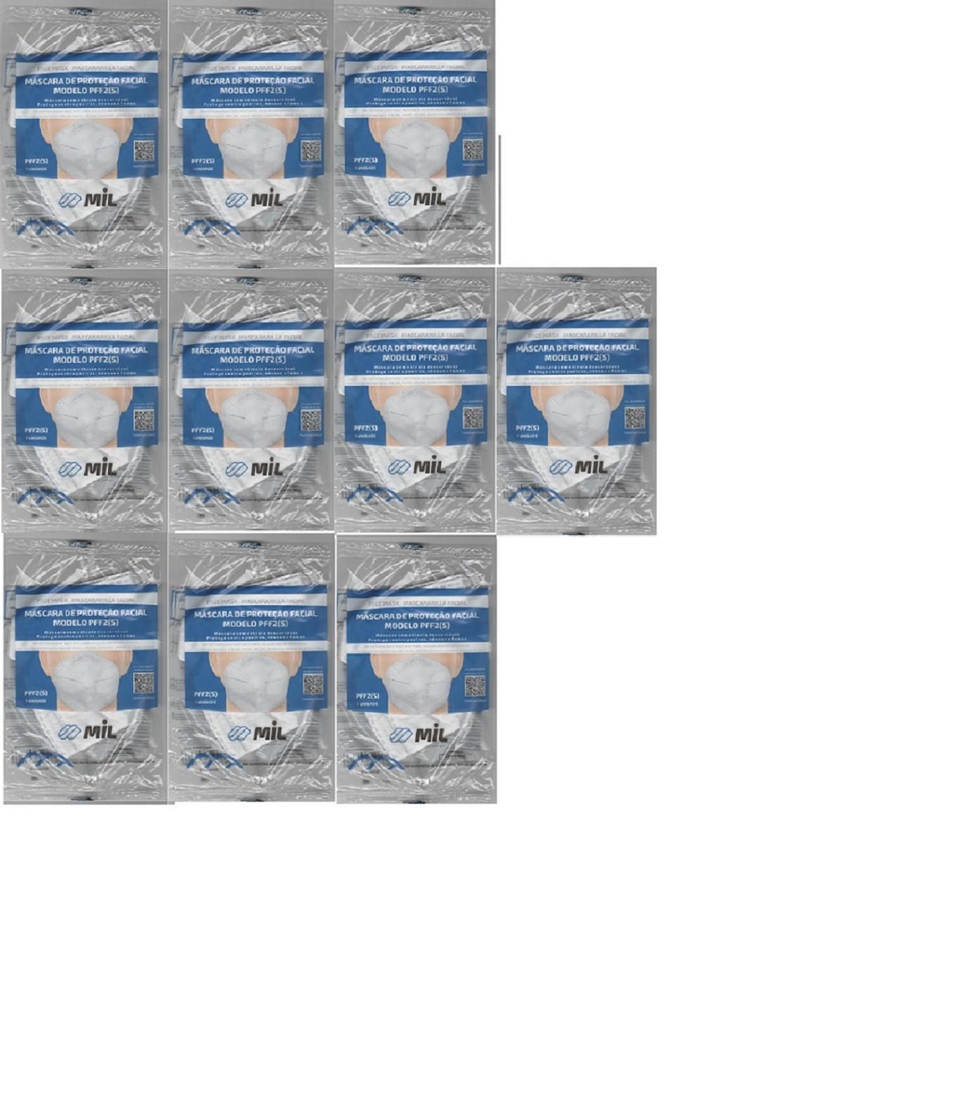 Mascara Anatômica Bico De Pato Pff2 Clip Nasal 10 unidades