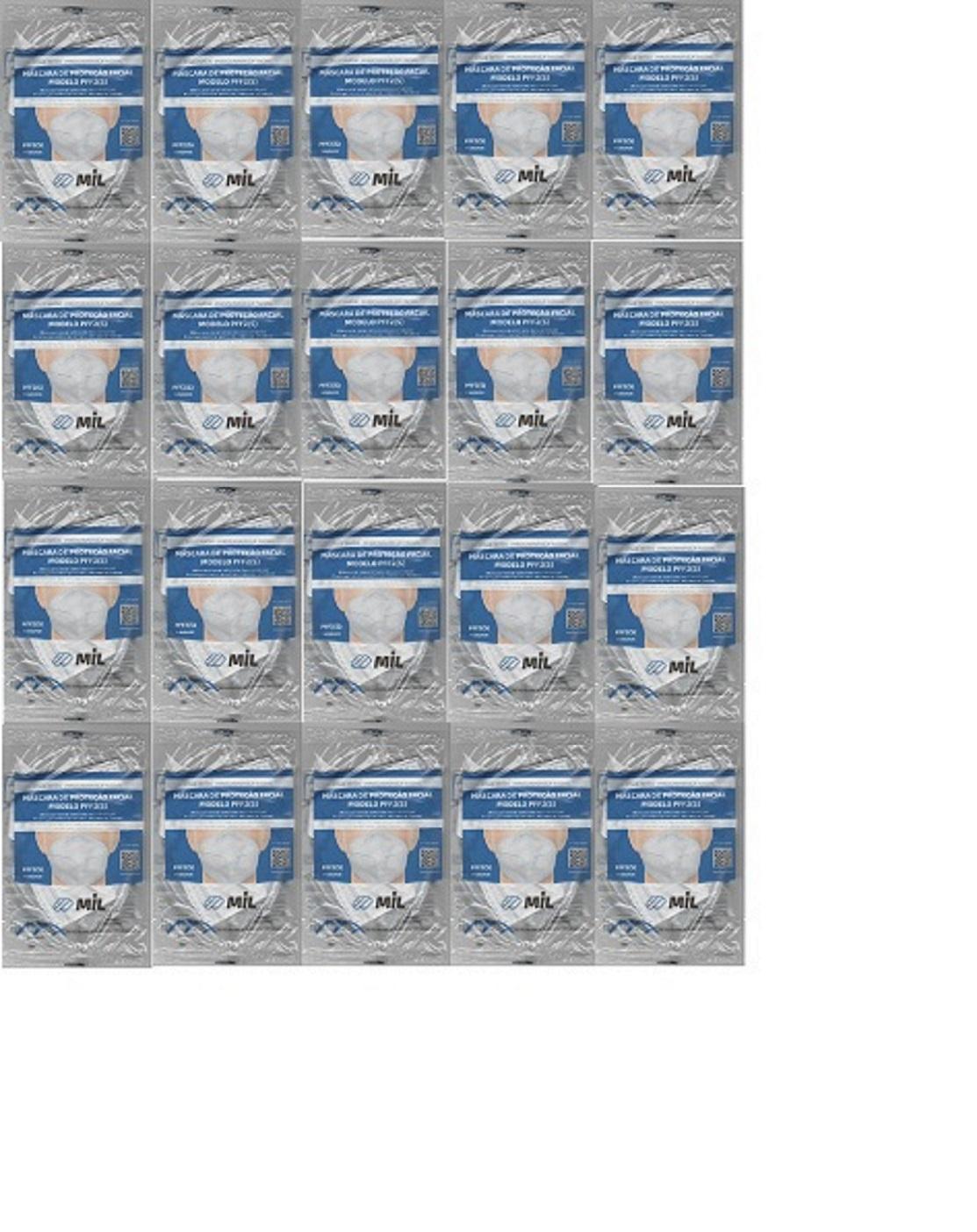 Mascara Anatômica Bico De Pato Pff2 Clip Nasal 20 unidades