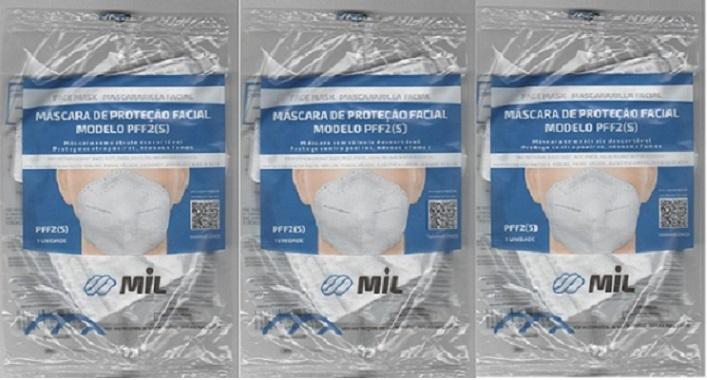 Mascara Anatômica Bico De Pato Pff2 Clip Nasal 3 unidades