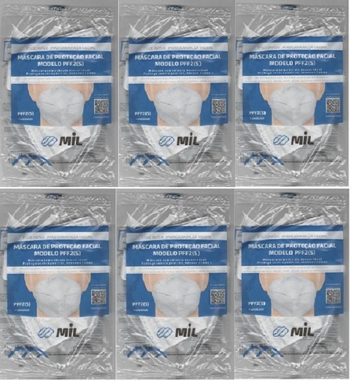 Mascara Anatômica Bico De Pato Pff2 Clip Nasal 6 unidades