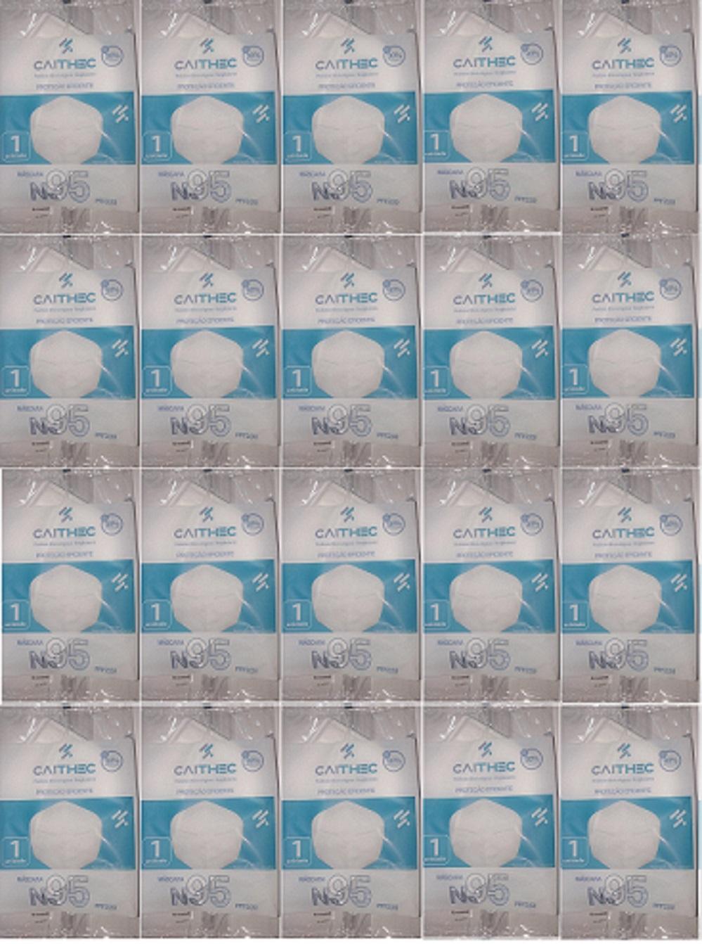 Mascara Bico De Pato Pff2 N95 ANVISA Clip Nasal 20Unididade