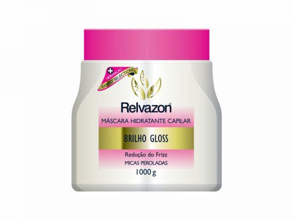 Mascara Hidratante Capilar Brilho Gloss 1kg Relvazon