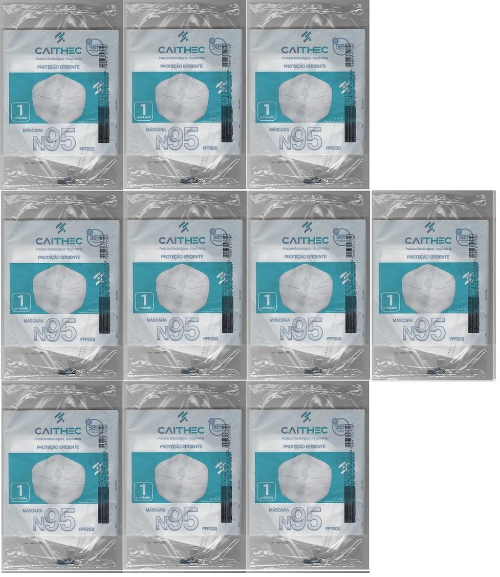 Mascara N95 Pff2 98% Proteção ANVISA/INMETRO/CA 10 unidades