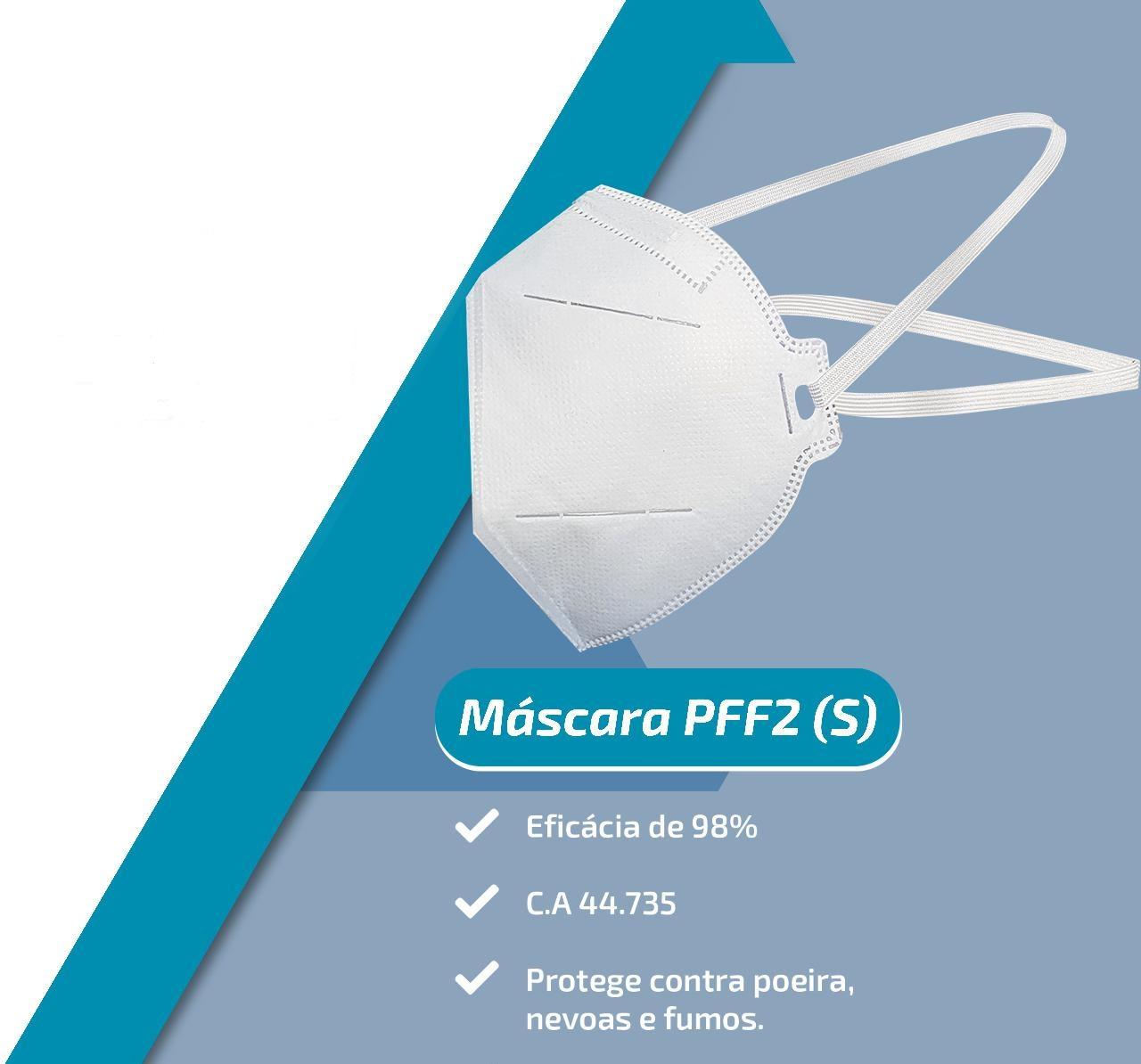 Mascara N95 Pff2 98% Proteção ANVISA/INMETRO/CA 40 unidades