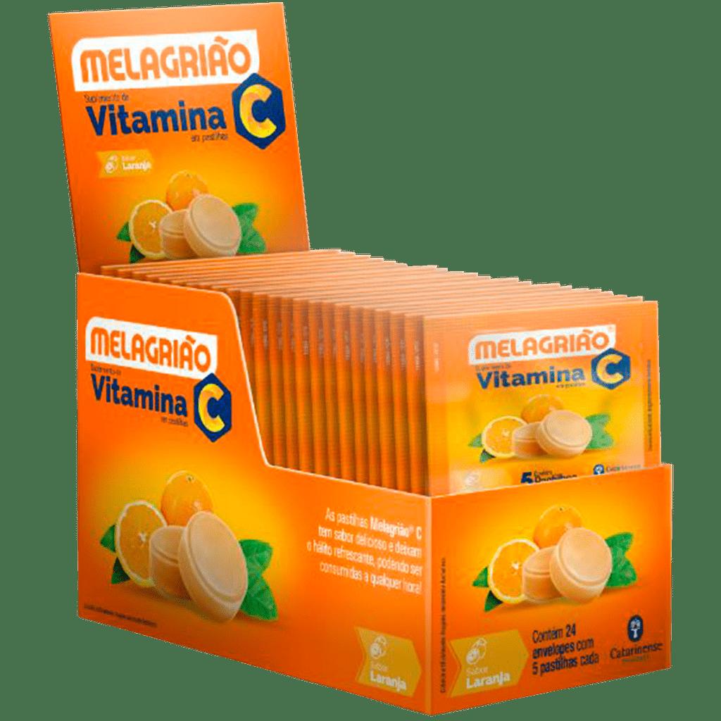 Melagriao Pastilhas Vitamina C Laranja Caixa 24x5