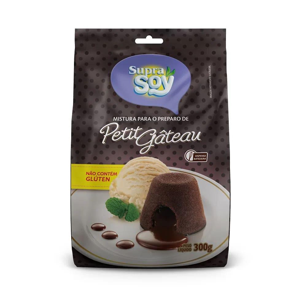 Mistura Para Bolo Petit Gateau - S/Lactose/S/Gluten - 300gr - Supra Soy