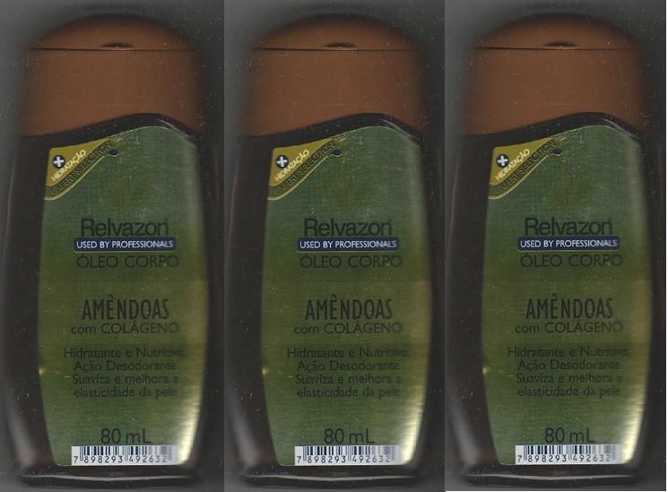 Oleo Corporal Amendoas Colageno 80ml Bio2 3unidades