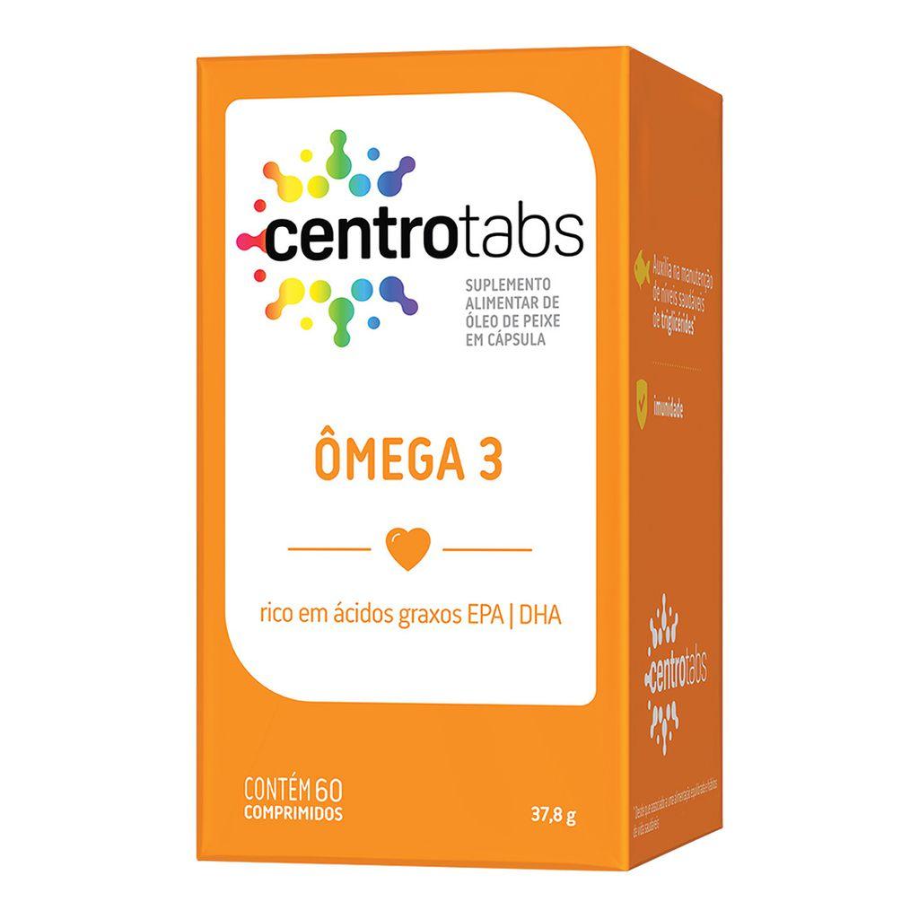Omega 3 Centrotabs  1000mg De Óleo De Peixe Memória 60 Caps