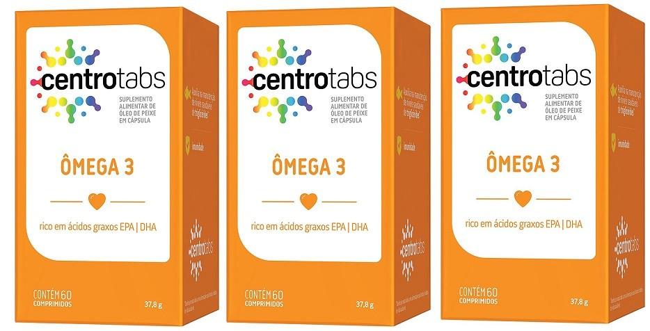 Omega 3 Centrotabs  1000mg Óleo Peixe Memória 60 Caps 3 Uni