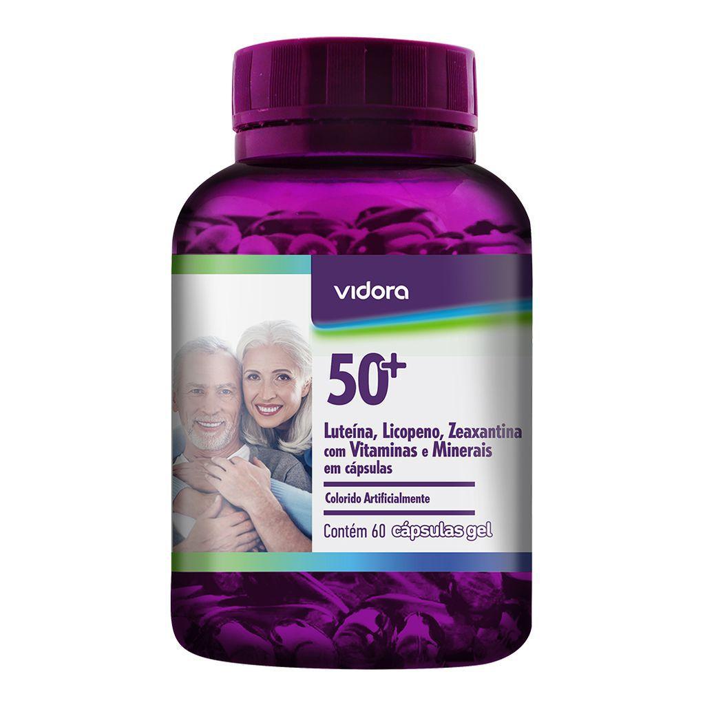 Polivitamínico 50+ Vidora 60 Capsulas Gel