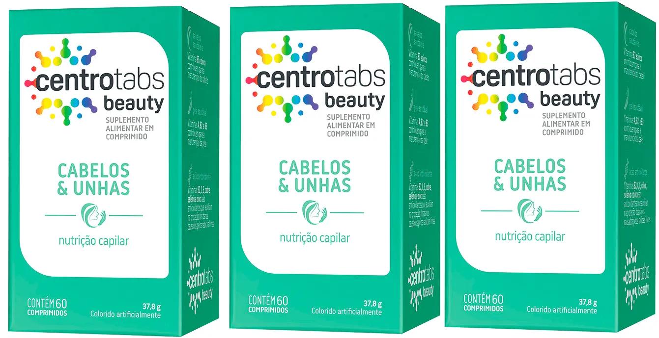 Polivitaminico Centrotabs Beauty Cabelos E Unhas 60 Cap 3 un