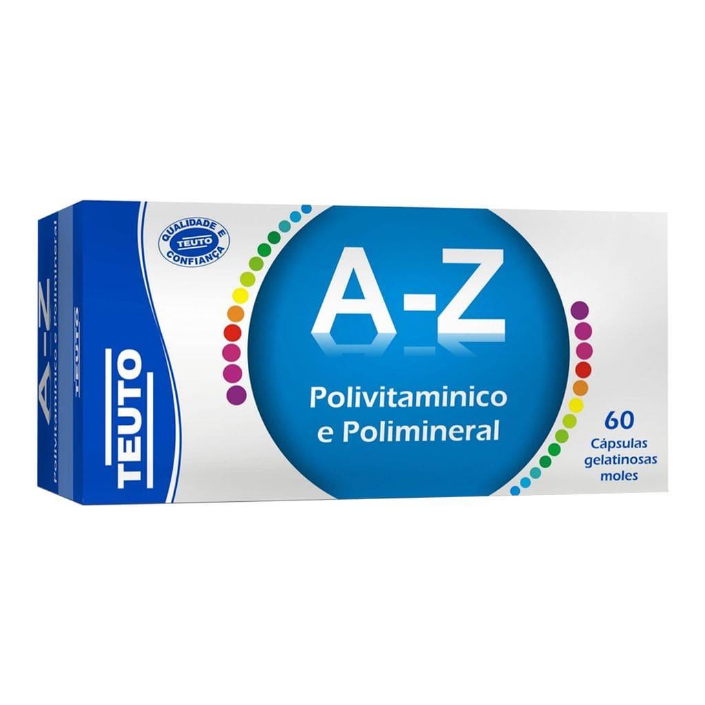 Polivitamínico e Polimineral A-Z 60 CAPS GEL Teuto