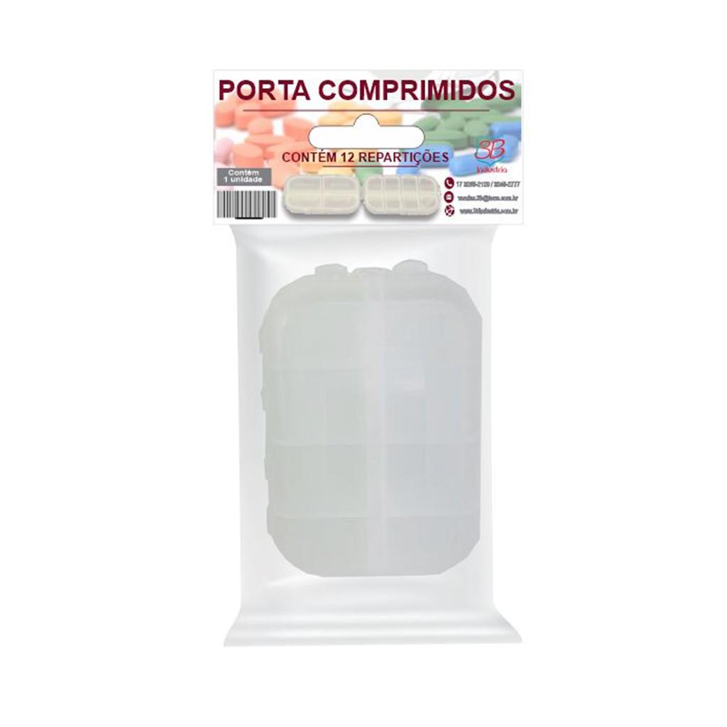 Porta Comprimidos Diário/Semanal 12 Divisórias