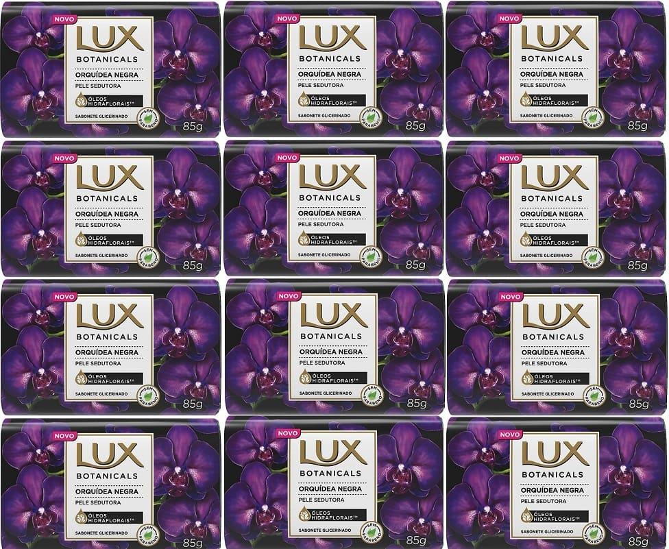 Sabonete em Barra LUX Orquídea Negra 85g 12 unidades