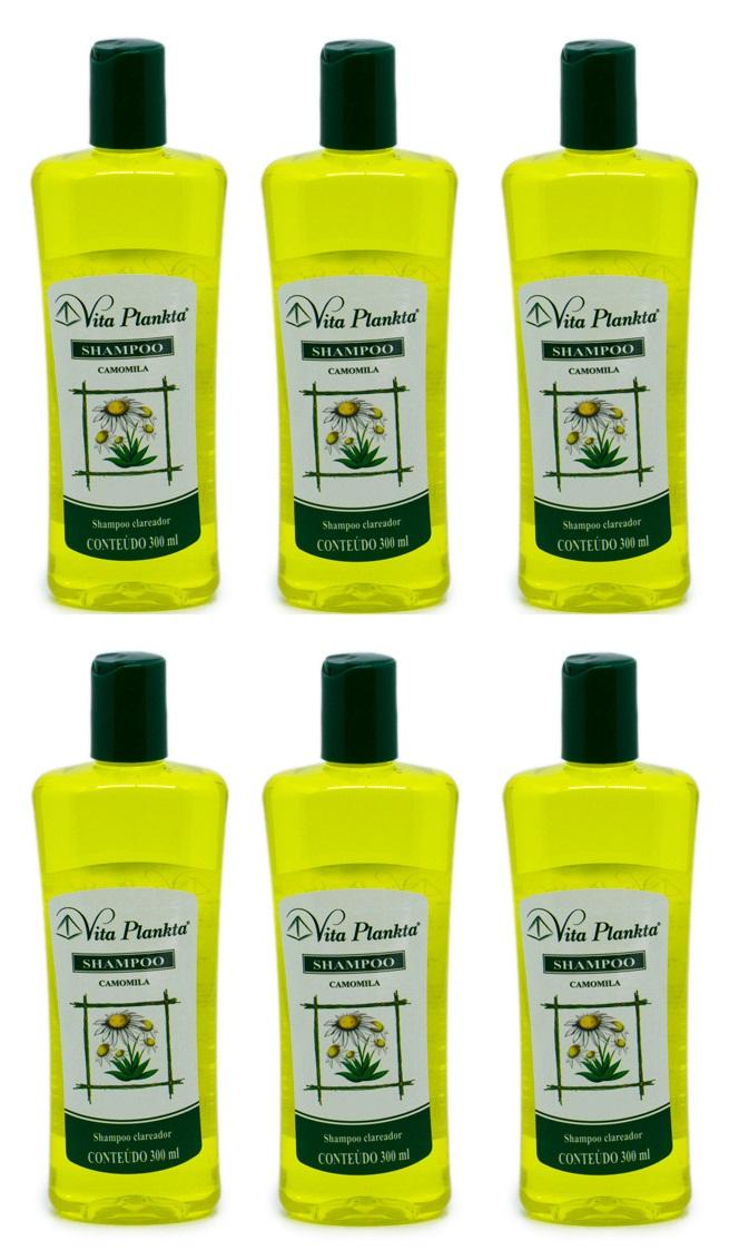 Shampoo Camomila Extrato de Flores Clarear cabelos 300ml 6un
