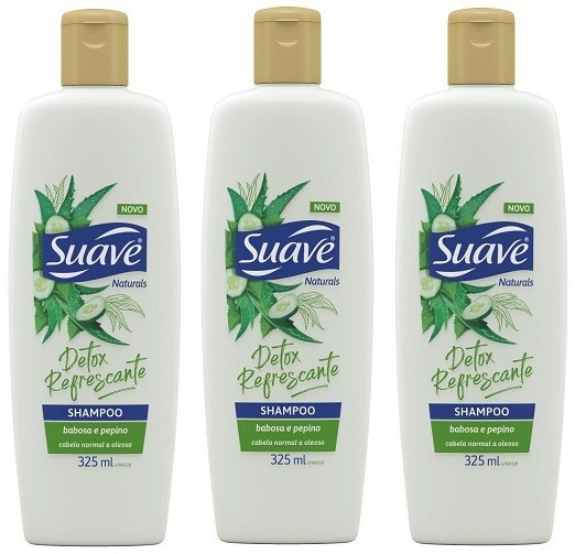 Shampoo Suave Babosa e Pepino 325ml 3 unidades