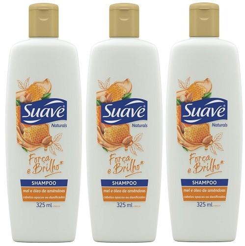Shampoo Suave Mel e Óleo de Amêndoas 325ml 3 unidades