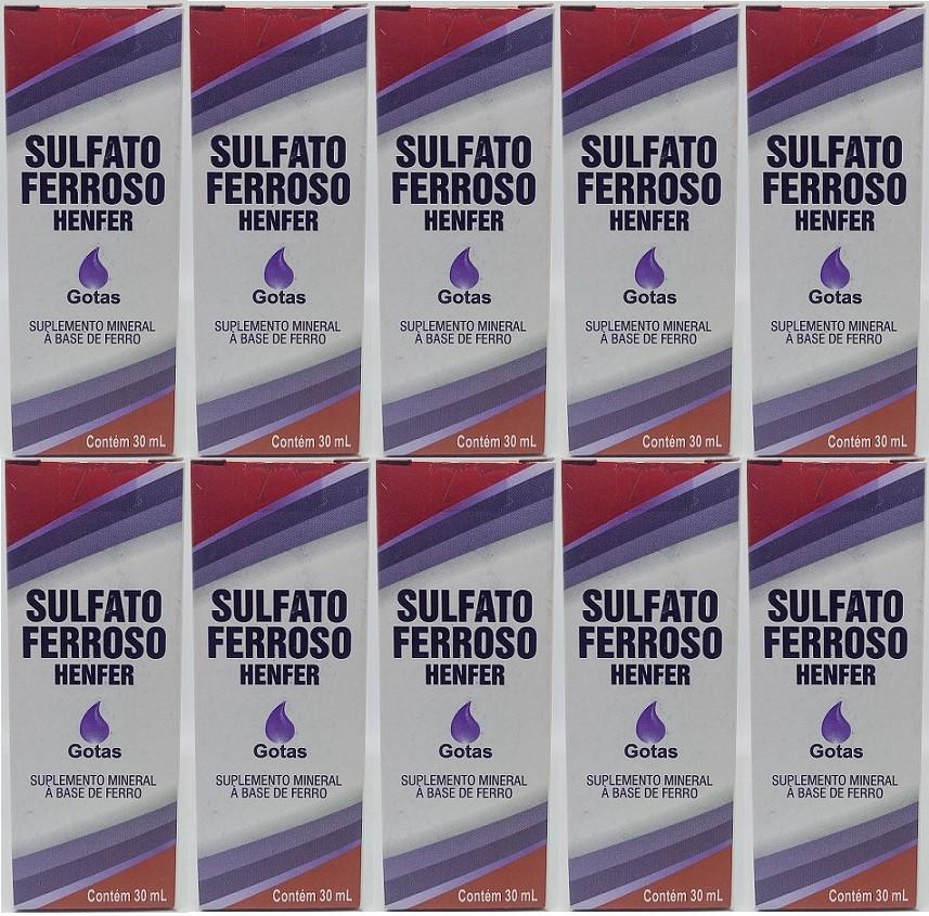 Sulfato Ferroso Gotas 125mg  30ml 10 unidades