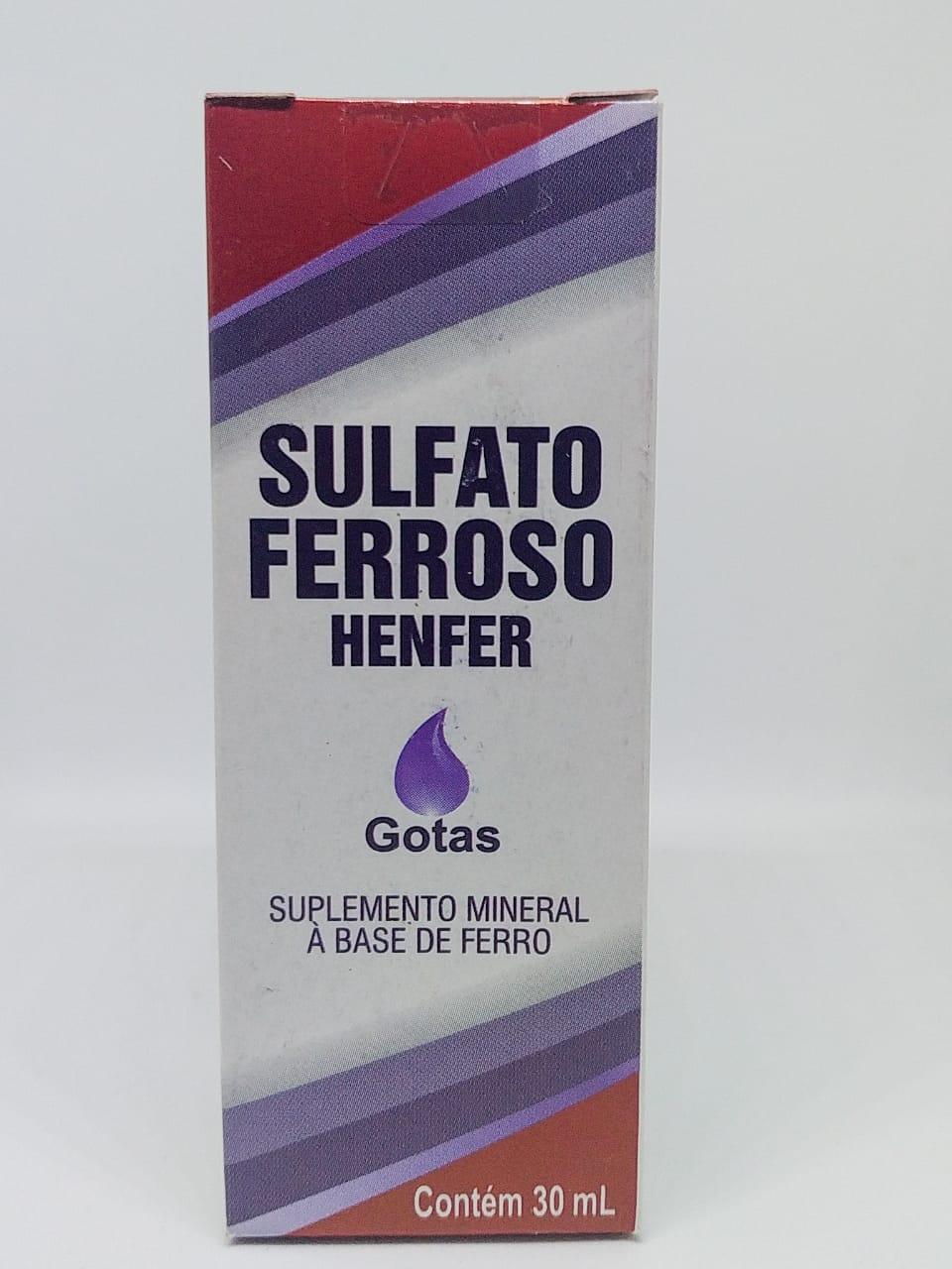 SULFATO FERROSO GOTAS 30ML HENFER