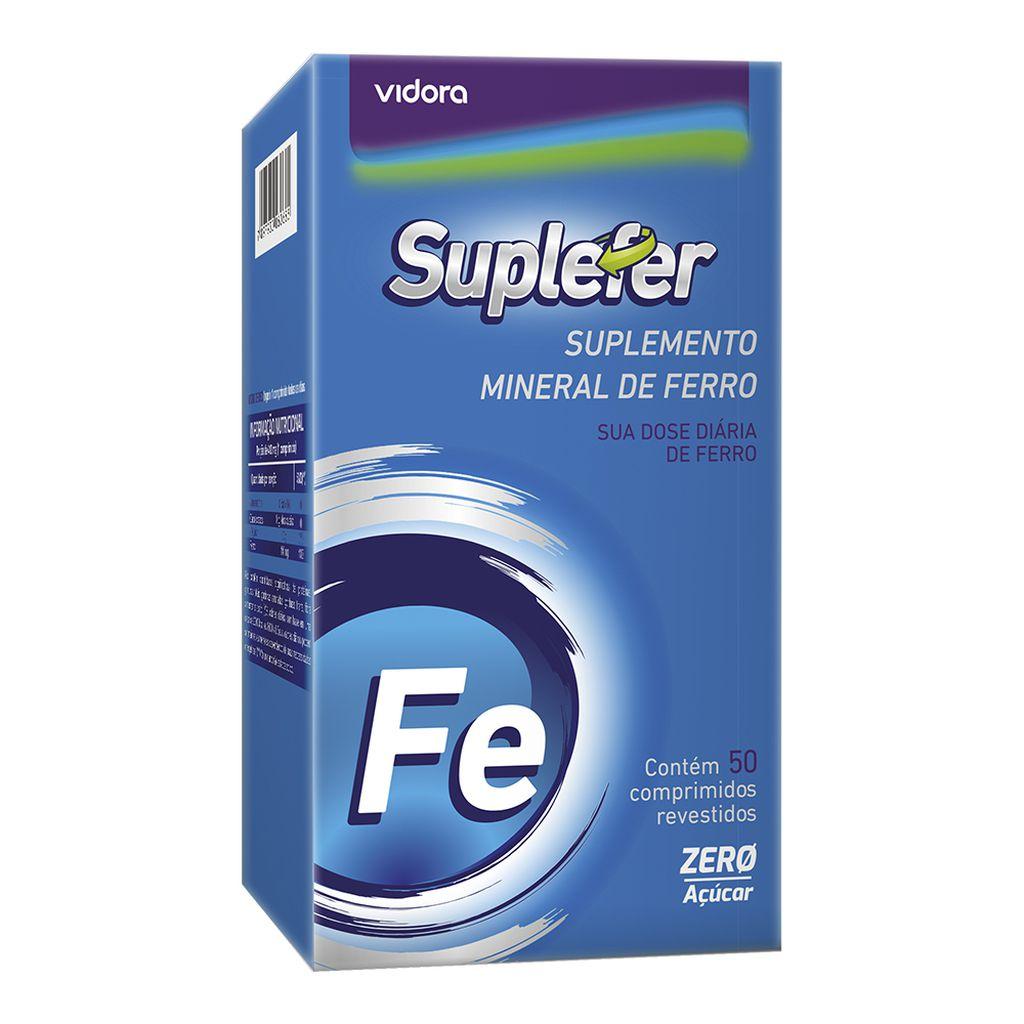 Sulfato Ferroso Suplefer 412mg 50 Cprs Revestidos